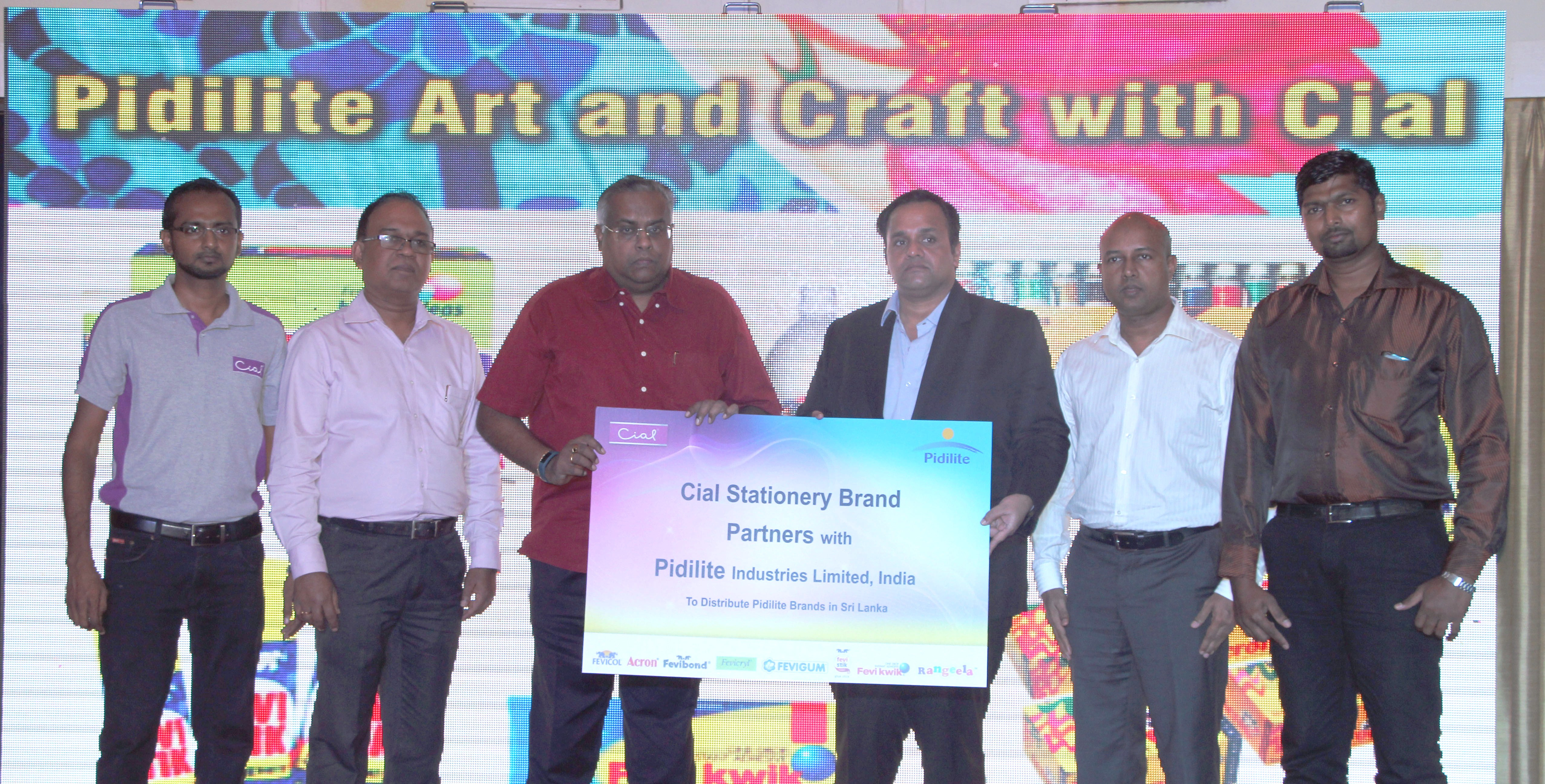 CIC's Cial appointed to distribute art & craft product range of Pidilite Industries Pvt Ltd,India